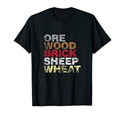 Funny shirt for anyone that understands board games, trading wood, brick, sheep, wheat, ore, rolling dice and trying to avoid the robber. A perfect present for the competitive board game geek who loves to play on table tops or with friends. Create th...