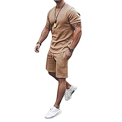 【Men's Tracksuit Material】: polyester + spandex + cotton. 2 Piece Track Suits for Men : this sweatshirt is luxuriously soft, dreamily comfortable, and durable. The comfy material not easy make you itchy, but put your body in a totally relaxed status....