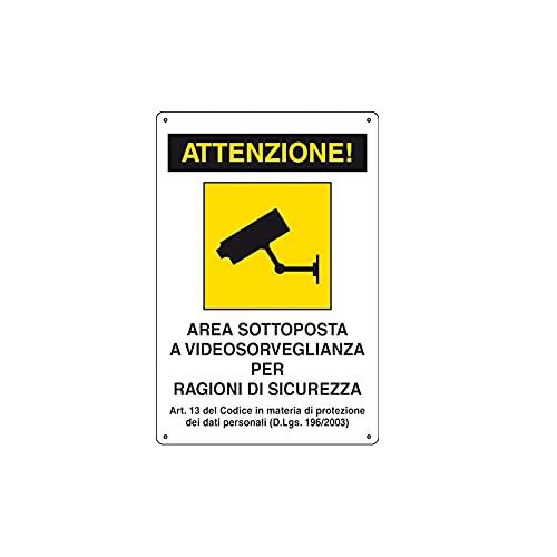 PLACA DE ALUMINIO LETRERO 20X30 VIDEO VIGILANCIA AREA AL