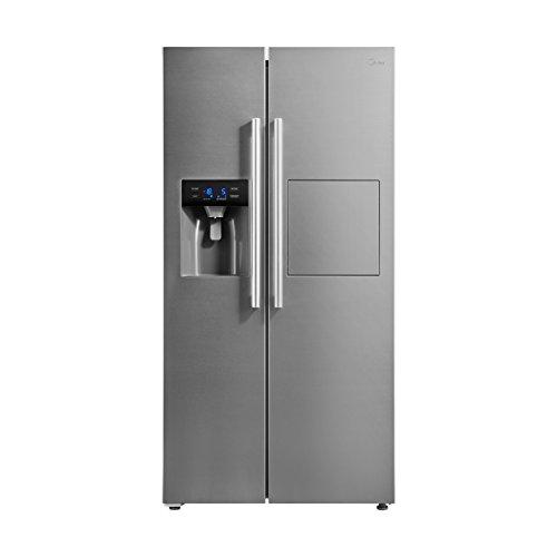 Midea KS 6.2 bar Side-by-Side/A++/178.8 cm/322 kWh/Jahr/334 L Kühlteil/156 L Gefrierteil/Inverter/Total No Frost/Inox