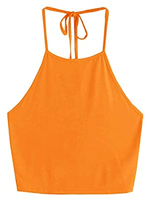 Super soft touched, basic top for Women/Junior Teen Girls(14-20 years old). Material: 95% Cotton, 5% Spandex, very stretchy fabric, soft touched, light weight. Sleeveless, spaghetti strap, halter neck, solid color, racer back crop top, Jersey Tank to...