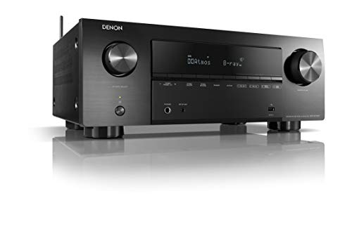 Denon AVR-X2700H 7.2-Kanal AV-Receiver, Hifi Verstärker, Alexa kompatibel, 6 HDMI Eingänge und 2 Ausgänge, 8K-Video, Bluetooth, WLAN, Musikstreaming, Dolby Atmos, AirPlay 2, HEOS Multiroom