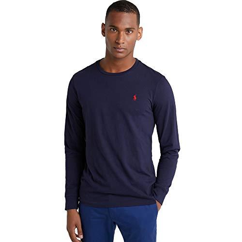 Ralph Lauren, Maglietta a maniche lunghe da uomo, con vestibilità personalizzata Blu navy M