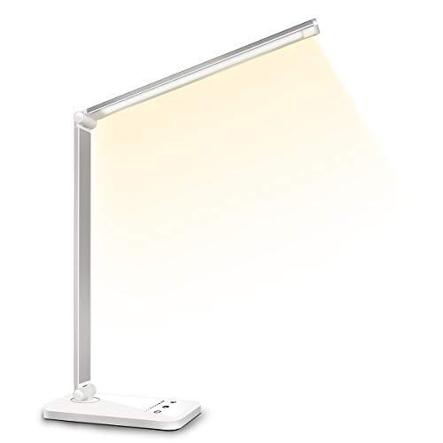 デスクライト LED 電気スタンド 卓上ライト 目に優しい 省エネ 机 テーブルスタンド タッチセンサー調光 US...