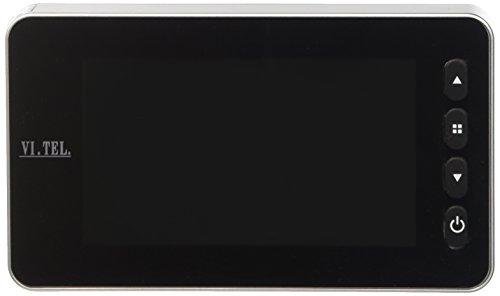 VI.TEL. E0393 12 Mirilla digital con sensor de movimiento, color plata