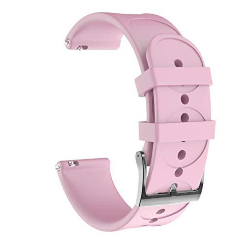 Sport Armband kompatibel mit SUUNTO 3 Fitness, 20mm weiches Silikon Uhrenarmband Sportarmband Ersatzband Ersatzarmband ist kompatibel mit SUUNTO 3 Fitness Smart Fitnessuhr (Rosa)