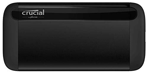 Crucial CT1000X8SSD9 X8 1TB Portable SSD, Fino a...