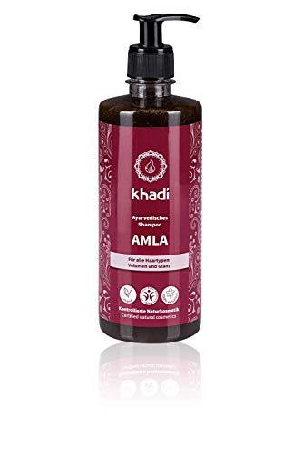 khadi Ayurvedisches Shampoo Amla 500ml I natürliches Haarshampoo für Volumen und Glanz I Naturkosmetik 100{2fe92fc3585add928f663fd4e6986a4017c46dc6f75db56e2004606c589c4f86} pflanzlich