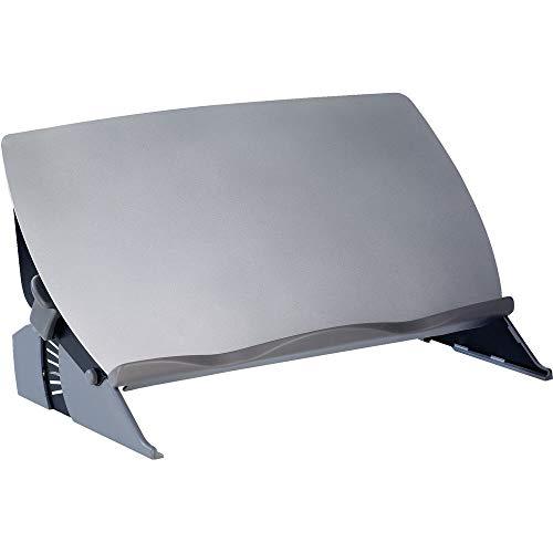Fellowes 8210001 Easy Glide Flexibler Dokumentenhalter/Schreibunterlage Sichtfeld-Konzepthalter gleitende Plattform, grau