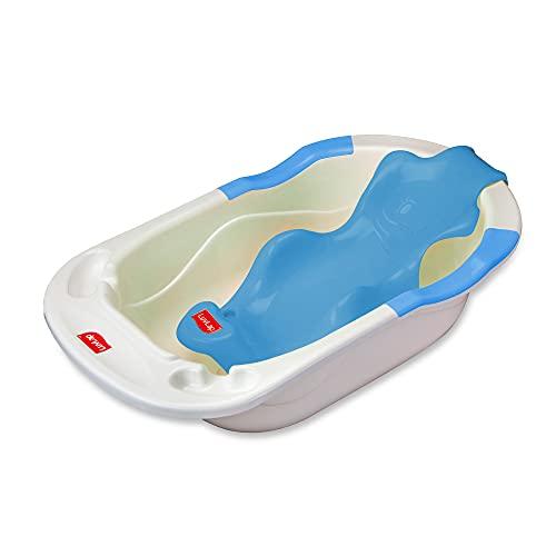 LuvLap Baby Bathtub with Antislip base & Newborn Bath Chair/Sling (Blue)