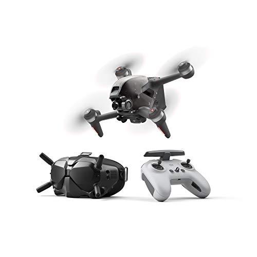 DJI FPV Combo- First-Person View Drone UAV, Trasmissione HD a Bassa Latenza, 4K Video, Super Grandangolo FOV 150, Esperienza di Volo Immersive, Freno dEmergenza e Volo Stazionario, Grigio