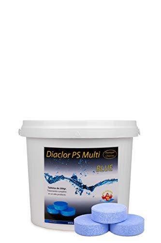 Cloro para Piscinas DIACLOR PS Multi Blue 5 KG - 25 Pastilla