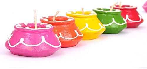 PANSHUL-FAB-TEX-Decorative-Clay-Matki-DiyasColourful-Diya-Set-Diya-for-Diwali-Set-of-10