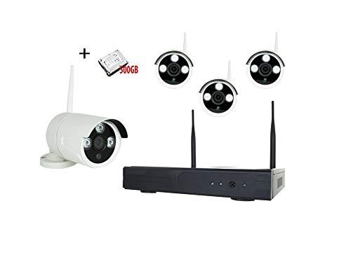 KIT VIDEOSORVEGLIANZA AHD WIRELESS 1,3 MP ICLOUD+ HDD 500GB ASSISTENZA TELEFONICA