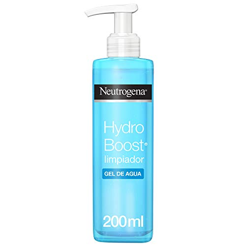 Neutrogena Hydro Boost Limpiador Gel de Agua, Elimina las Impurezas y el Maquillaje, 200...