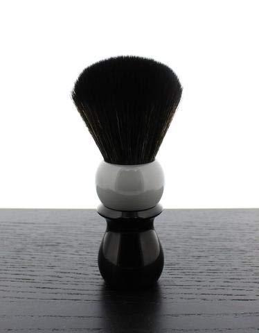 WCS Two-Tone Tall Synthetic Shaving Brush, Grey & Black