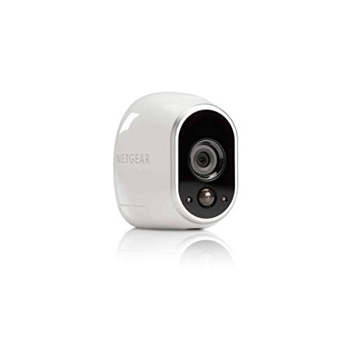 NETGEAR Arlo VMC3030-100EU - Telecamera di sicurezza HD per uso domestico, senza fili, per interni ed esterni, sensore di movimento, visione notturna, colore: Bianco