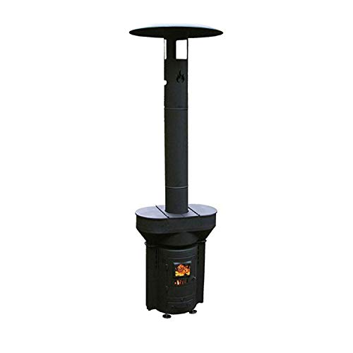 Q-Stoves Wood Pellet Outdoor Heater, Q-Flame Portable Eco-Friendly Heater, for Patio, Camping and Going Off-Grid