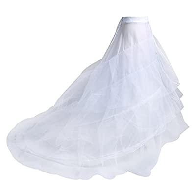 """【Mermaid Petticoat's Size】:Approx.100cm/39.37""""inches(waist to hem);Waist Length:Approx 66cm~90cm/26""""~35.4"""" inches;Bottom hoop diameter: approx.150cm/59""""inches;This mermaid petticoat has a very puffy train,will make your dress puffy. 【Underskirt's Mat..."""