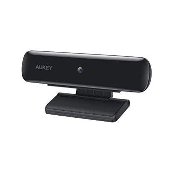 AUKEY Webcam FHD, Caméra de Diffusion en Direct 1080p, Webcam USB pour Ordinateur de Bureau ou Ordinateur Portable pour appels et Enregistrement vidéo sur Grand écran