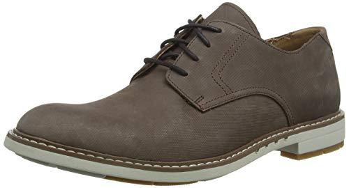 Clarks Un Elott Lace, Zapatos de Cordones Derby para Hombre, Beige (Taupe Nubuck Taupe Nubuck), 41 EU
