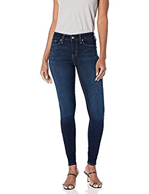 Super stretch lasts from day to night; Snug fit doesn't lose shape Vintage, worn-in look Mid-rise comfort waistband Skinny through hip and thig; Skinny leg opening