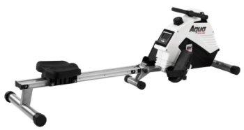 BH Fitness AQUO R308 Rameur - Magnétique - Système de tirage centrale par courroie - Pliage rapide - Ecran LCD - Ceinture thoracique optionnelle