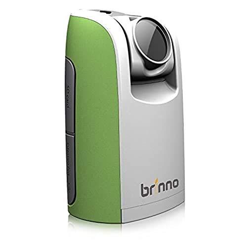 Brinno TLC200 Time Lapse Camera, Cronofotografia, Display LCD 1.44', Risoluzione Video 1280 x 720, Scheda SD 4GB Inclusa, Verde/Bianco