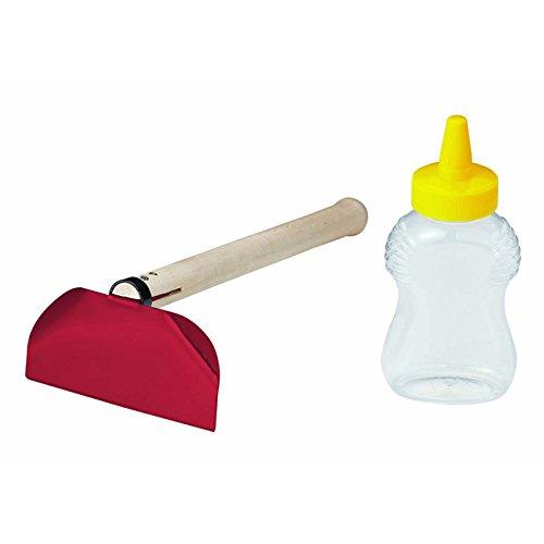 潮干狩りに マテ貝ホイホイ スチールL マテ貝専用キット クワ+塩用ボトルセット