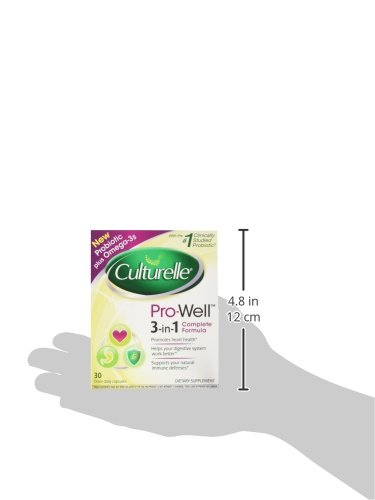Culturelle Pro-Well 3-in-1 Complete Daily Formula, Once Per Day Dietary Supplement, Contains 100% Lactobacillus GG –The Most Clinically Studied Probiotic, Plus Omega 3's, 30 Count 7
