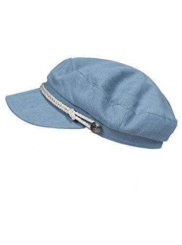 Zwillingsherz Schirmmütze für Damen - Elegante Kappe Hut Barett für Frauen Mädchen Uni - Hochwertige Baskenmütze/Ballonmütze/Mütze in einem dezenten und stilvollem Design