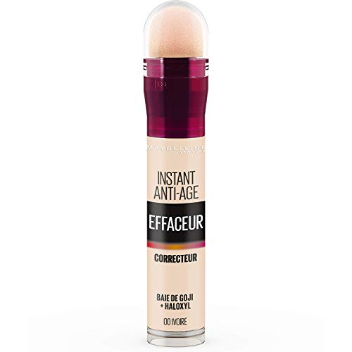 Maybelline New York - Anti-cernes/Correcteur Fluide - Instant Anti-Age L'Effaceur - 00 Ivoire - 6,8 ml