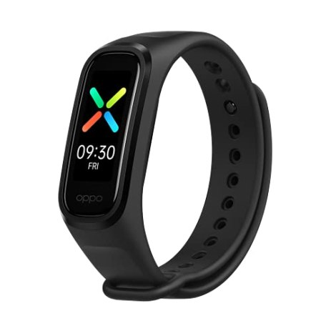 OPPO-Smart-Band-with-Extra-Sport-Strap-Continuous-Blood-Oxygen-Saturation-MonitoringspO2-Up-to-12-Days-Battery-Life-11-AMOLED-Display-5ATM-Water-ResistantSupports-Android-and-iOSBlack