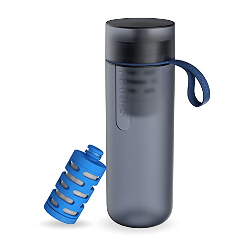 Philips GoZero Gourde filtrante Bleue - + 1 filtre fitness