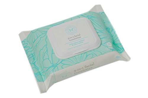 The Honest Company 3-in-1 Hypoallergenic Facial Towelettes, 30 Count (Pack of 4)