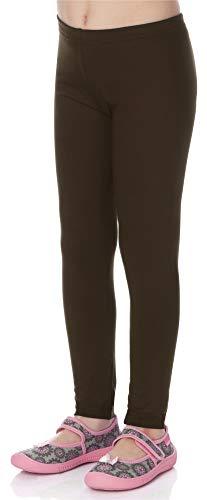 Merry Style Leggins Mallas Pantalones Largos Ropa Deportiva Niña MS10-130 (Marrón, 134 cm)