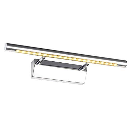 GreenSun LED Lighting 5w 40cm Bilderleuchte einstellbar Edelstahl 21SMD 5050 Spiegellampe Mit Schalter Spiegelleuchte Bad Leuchte Wandlampe LED Spiegellicht Badlampe Warmweiß