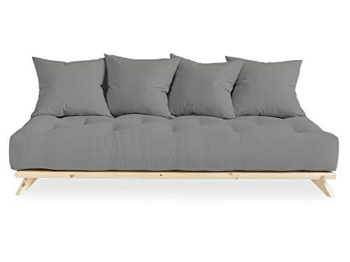 Karup Desgin Senza by Karup Design futon a 3 posti Legno Naturale con Funzione Materasso grigo...