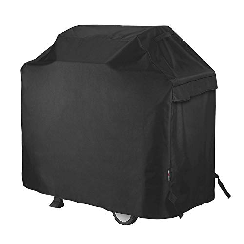 Unicook Barbecue Cover, Waterproof Heavy Duty Outdoor BBQ Cover, Fade and UV Resistant Oxford Fabric Gas Grill Cover, Fits Weber, Char Broil, Brinkmann Barbecues etc (50 inch/127cm, Black)