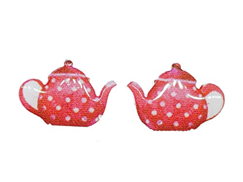 Miniblings teiera Orecchini caffettiera pentola Drink Rosa per t e caff - moda orecchini gioielli fatti a mano che la spina orecchini