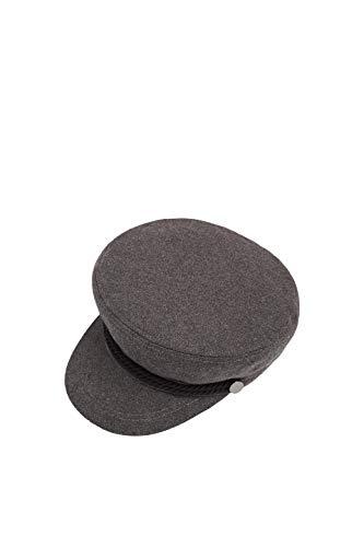 ESPRIT Accessoires Damen 089EA1P002 Schirmmütze, Grau (Medium Grey 035), (Herstellergröße: M)