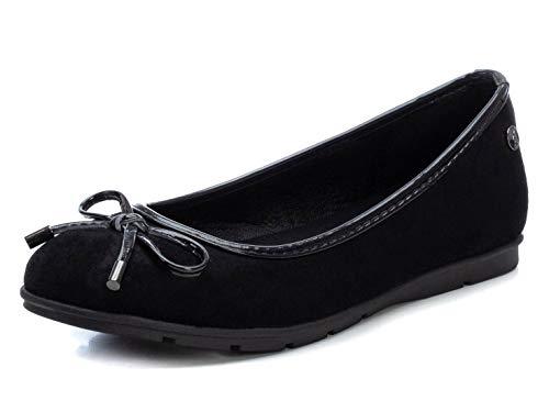 XTI - Zapato Bailarina para Mujer - Color Burdeos - Talla 37