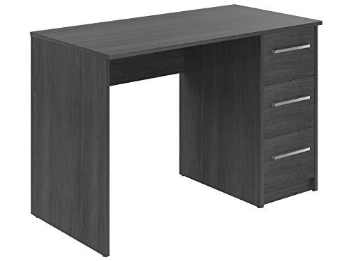 Movian, scrivania con 3 cassetti in stile moderno, modello Idro, 56 x 110 x 73,5 cm, colore grigio