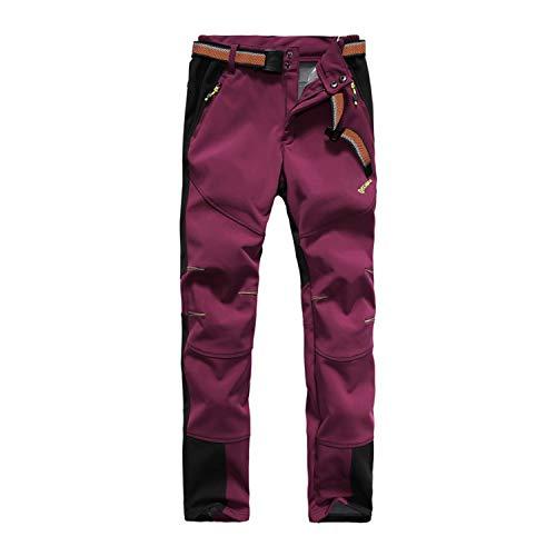 Tofern Womens Winter Softshell Pants - Warm, Waterproof, Fleece-Lined 10000mm