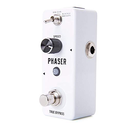 MAATCHH Chorus Pedal Digital Guitar Modulation Effect Pedal Phaser Electric Guitar Effect Pedal With 2 Modes (Color : White, Size : Free size)