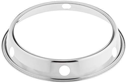 JADE TEMPLE Soporte de Hierro para Wok, 20 CM diámetro, Metal, Plata, 32 cm