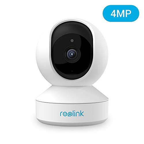 Reolink 4MP Telecamera Wi-Fi Interno con Pan&Tilt, Videocamera Sorveglianza WiFi Dual-Band da 2.4/5 GHz con Audio a 2 Vie, Visione Notturna e Rilevazione del Movimento - E1 Pro