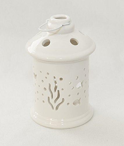 Lanterna In Porcellana Biancastile Mare 9.5x15 Cm