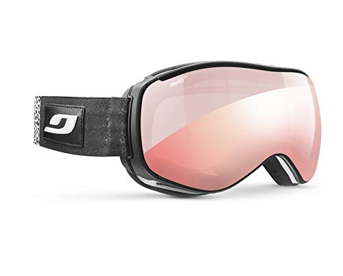 Julbo Starwind Photochromic Womens Snow Goggles with Ultra Venting Superflow Technology No Fogging - Zebra Light Red - White/Black Panther