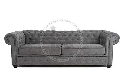 Imperial Chesterfield - Divano a 3 o 2 posti, in tessuto di velluto (divano a 3 posti)